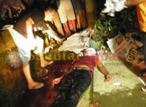Korban terkapar tak bernyawa setelah ditebas kakak beradik