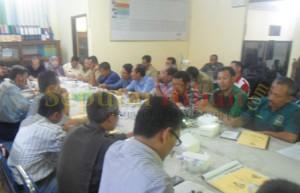 Pertemuan yang diselenggarakan KPUD Tuban dan menghadirkan dari lintas lembaga dan Parpol