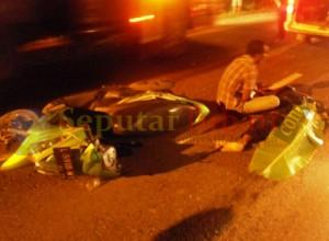 Korban meregang nyawa dilokasi kejadian