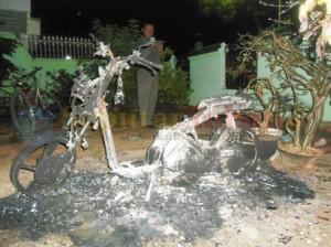 Kondisi motor yang dibakar