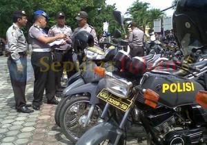 sepeda motor operasional personil Polsek jajaran saat diperiksa di Mapolres Tuban