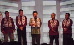 Pejabat pemasaran PT Semen Indonesia saat menyampaikan sambutan