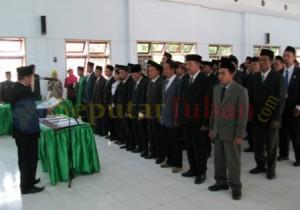 Prosesi pelantikan Panwascam se Kabupaten Tuban