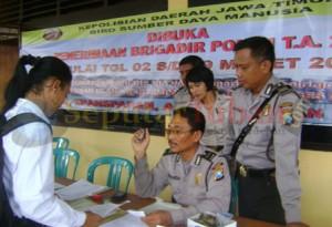 Pendaftaran penerimaan Brigadir Polisi 2013 di Mapolres Tuban