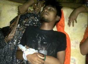 TEWAS : Korban tewas dalam posisi tertidur, diduga serangan jantung