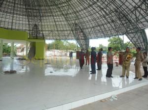 DISIDAK : Komisi D DPRD Tuban saat sidak pembangunan Rest Area beberapa waktu lalu