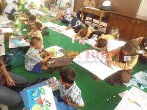 SEMANGAT : Siswa ABK saat mengikuti seleksi Porseni Kabupaten