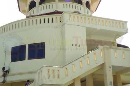 RETAK : Kondisi bangunan kantor TWT retak