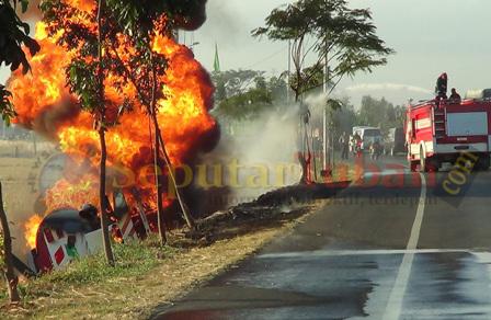 kebakaran tangki bbm pantura