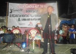 Dandim 0811 Tuban, Rahyanto Edy Yunianto saat menyampaikan sambutan