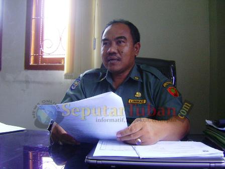 Sekretaris Dinas Sosial dan Tenaga Kerja Pemkab Tuban, Moh Nawawi