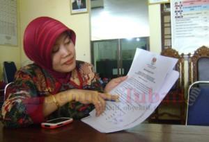 Komisioner KPU Kabupaten Tuban, Yayuk Dwi Agus Sulistiarini