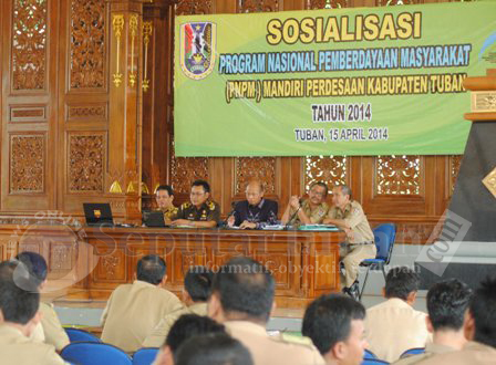 DIPAHAMKAN : Sosialisasi PNPM di Pendopo Kridomanunggal Pemkab Tuban
