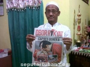 KUAT KAMPANYE HITAM : Inilah tabloid yang dikirimkan kepada pengasuh Ponpes yang berisi menyudutkan Jokowi
