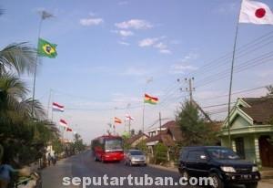 SERASA DI BRAZIL : Cara warga mengapresiasi perhelatan sepak bola piala dunia dengan memasang bendera