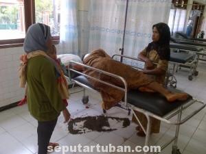 PARAH : Kondisi korban saat dirawat di rumah sakit