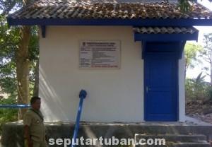 SUDAH SEBULAN : Sarana dan prasarana air bersih di Dusun Krajan, Desa Pacing, Kecamatan Parengan ini masih belum difungsikan. Karena pihak desa masih mempertimbangkan langkah yang bijak agar tida menimbulkan konflik sosial