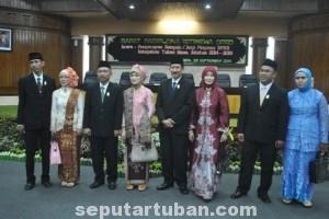 WAJAH BARU : Pimpinan DPRD Tuban beserta istri