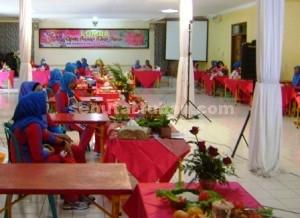 MERIAH : Sasana lomba masak dan kerajinan tangan dalam rangka Hari Kesatuan Gerak Bhayangkari ke 62 di Mapolres Tuban