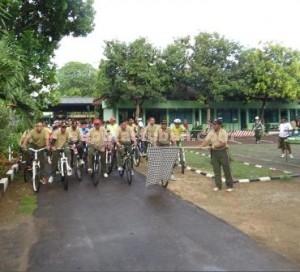 BUGAR BERSAMA : Sepeda santai dalam rangka hari juang kartika Kodim 0811 Tuban