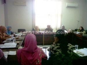 DANAI PPA : Saat Rapat Kerja (Raker) membahas pelaksanaan Perda Perlindungan Perempuan dan Anak (PPA) di Kabupaten Tuban