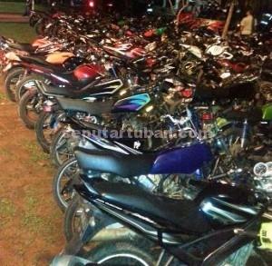 sepeda motor ditilang tahun baru