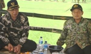 DUET PERMANEN: Bupati Tuban Fathul Huda dan Wakli Bupati Noor Nahar dalam sebuah  kesempatan.