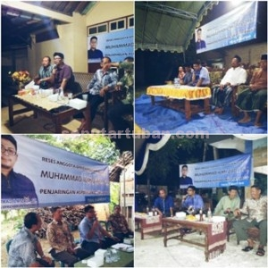 MEGUPING LANGSUNG: Hilmi Zada saat menggelar reses di Kecamatan Semanding dan Soko yang dirunning sejak tanggal 27-30 Maret 2015.