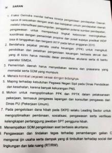 TUJUH POIN: Saran Fraksi Gerindra kepada Bupati Tuban Fathul Huda agar dengan segera memperbaiki kinerjanya.