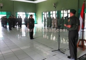 PENYEGARAN : Upacara pelepasan Kasdim 0811 Tuban