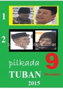 HANYA SATU: Dua pasang kandidat yang akan bertarung calam coblosan Pilkda Tuban 2015.