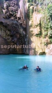 MAKIN BETAH: Obyek destinasi air terjun Nglirip di Desa Mulyoagung, Kecamatan Singgahan,  yang kian diminati wisatawan.
