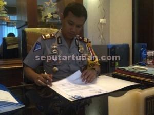 Kasat Lantas Polres Tuban, AKP Dyno Indra Setiadi