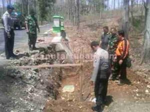 GEGER : Lokasi penemuan granat nanas yang sudah tidak aktif