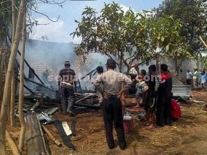 HANGUS : Kondisi rumah ludes terbakar