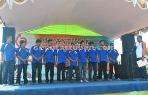 Prosesi pelantikan pengurus PWI Tuban