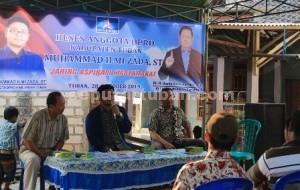 KONSISTEN : Anggota DPRD Tuban, Muhammad Ilmi Zada saat melakukan reses