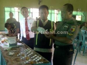 ZERO NARKOBA : Pemeriksaan urine anggota Kodim 0811 Tuban untuk memastikan perilaku bebas Narkoba