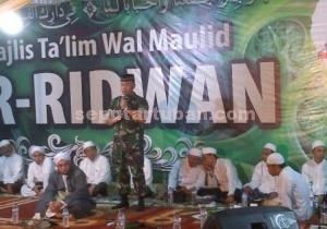 Dandim 0811 Tuban, Letkol Kav. Rahyanto Edy Yunianto saat menyampaikan sambutan
