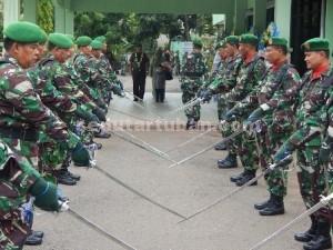 DANDIM BARU : Acara penyambutan Dandim 0811 Tuban yang baru menjabat