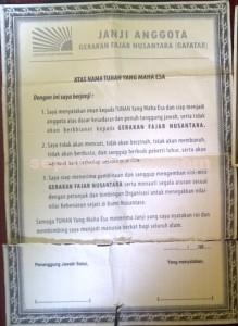 BUKTI : Inilah dokumen Gafatar yang masih tertinggal dirumah
