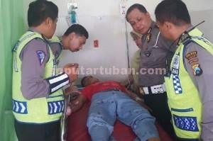SELAMAT : Salah satu korban Laka Lantas yang masih pelajar mengalami luka ringan