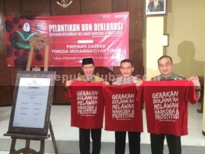 KOMPAK : Bupati, Kapolres dan Dandim Tuban usai deklarasi bersama