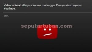 HILANG : Video porno telah dihapus pengelola youtube, Sabtu (6/2/2016) malam