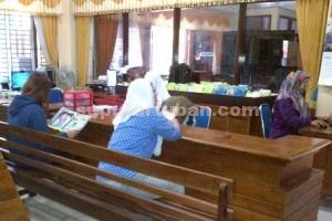 NYAMAN : Kondisi ruang pelayanan Perpustakaan Umum Pemkab Tuban