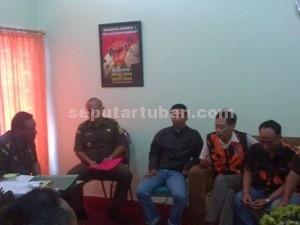 DESAK PENYIDIK : MPC Pemuda Pancasila saat audensi di Kejaksaan Negeri (Kejari) Tuban