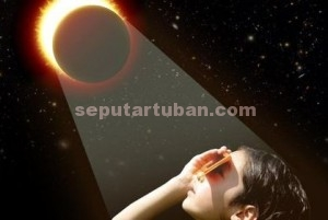 ilustrasi gerhana matahari/detik