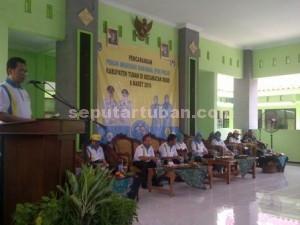 DIMULAI : Kepala Dinas Kesehatan Pemkab Tuban, Saiful Hadi saat menyampaikan sambutan pembukaan