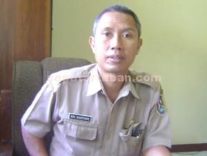 Kepala Bidang Pertamanan dan Kebersihan Dinas PU Pemkab Tuban, Edi Kartono