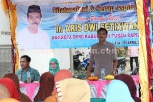 Reses yang dilakukan anggota DPRD Tuban, Ir. Aris Dwi S Setiawan